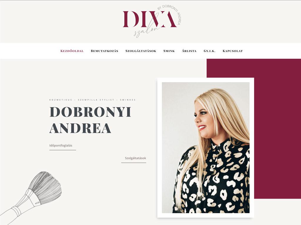 Weboldal készítés: Diva szalon
