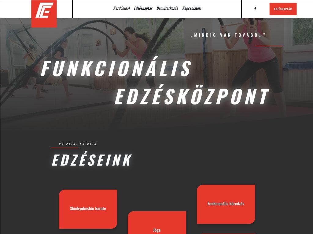 Weboldal készítés: Funkcionális edzésközpont