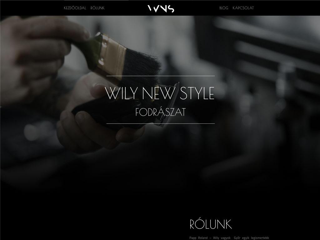 Weboldal készítés: Wily New Style
