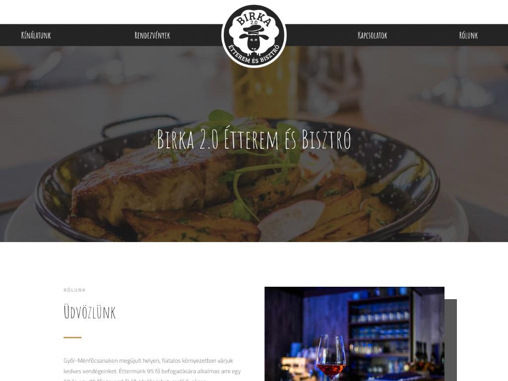 Weboldal készítés: Birka 2.0 Étterem és panzió