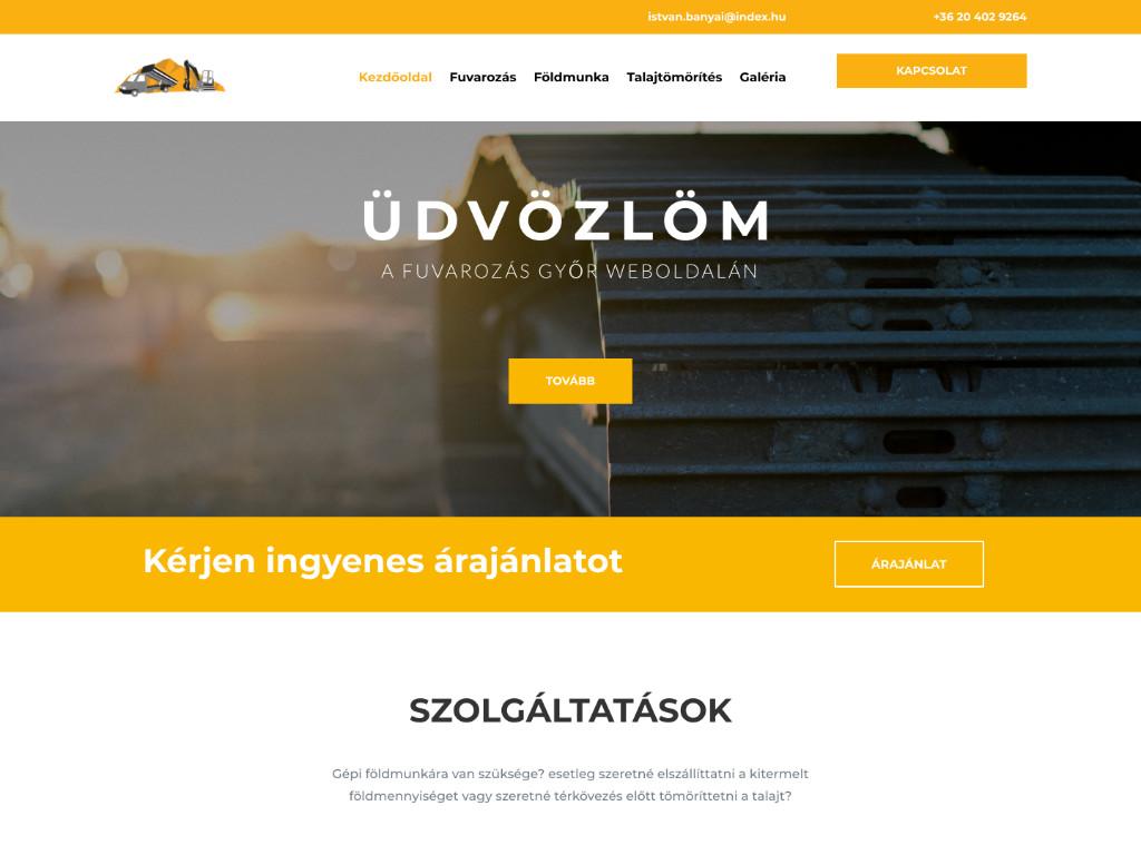 Weboldal készítés: Fuvarozás Győr