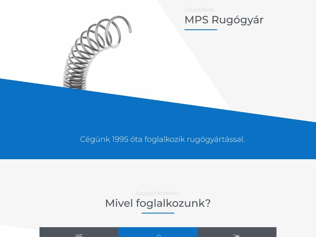 Weboldal készítés: mps rugógyár