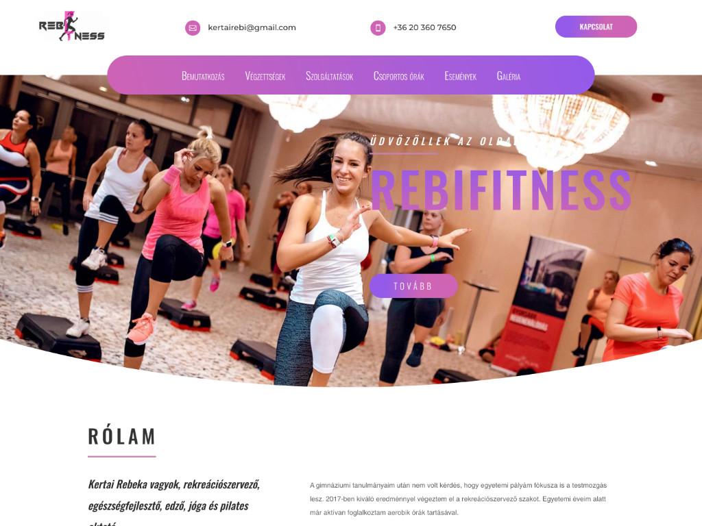 Weboldal készítés: Rebifitness