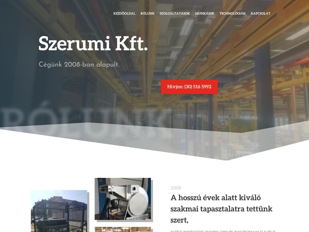 Weboldal készítés: Szerumi kft