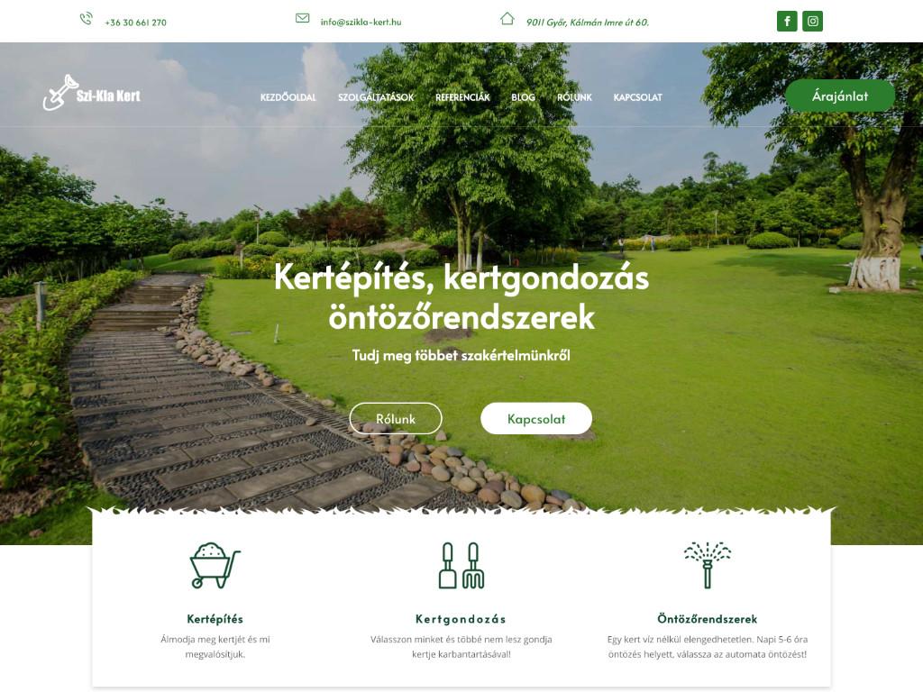 Weboldal készítés: Szikla-kert