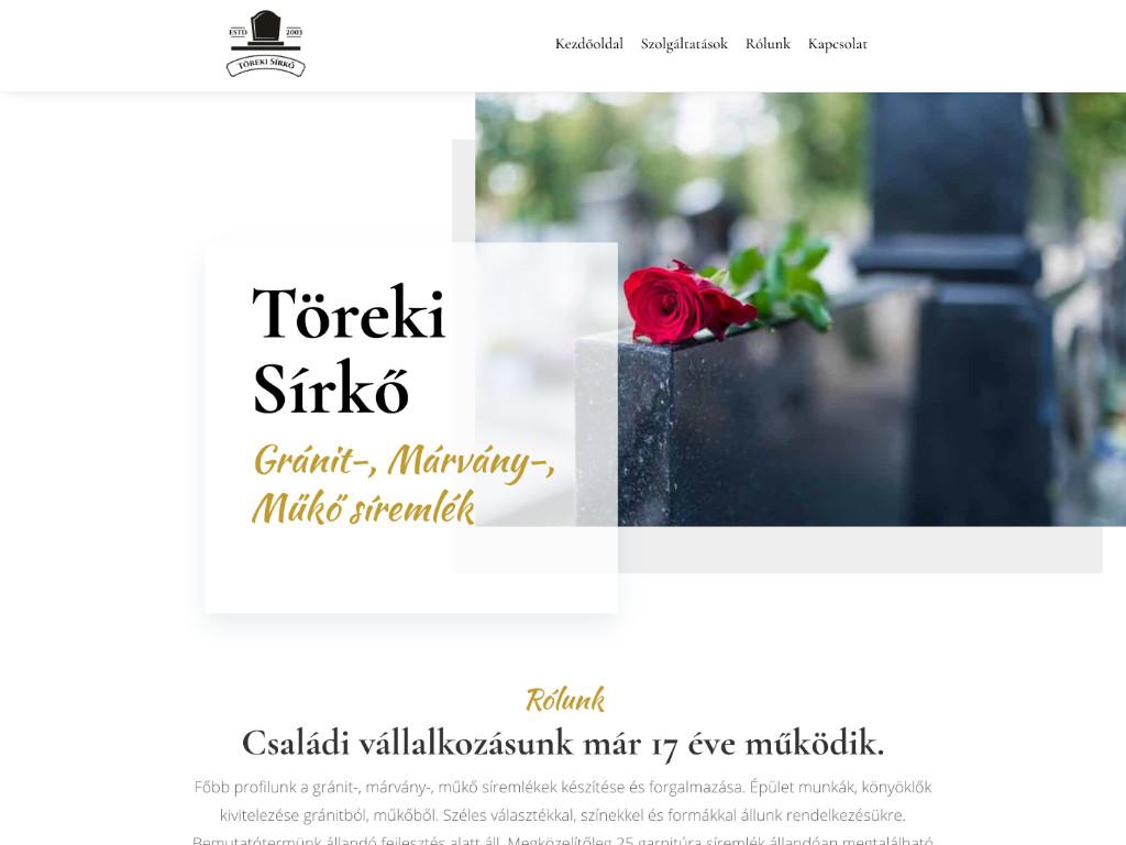 Weboldal készítés: Töreki sírkő