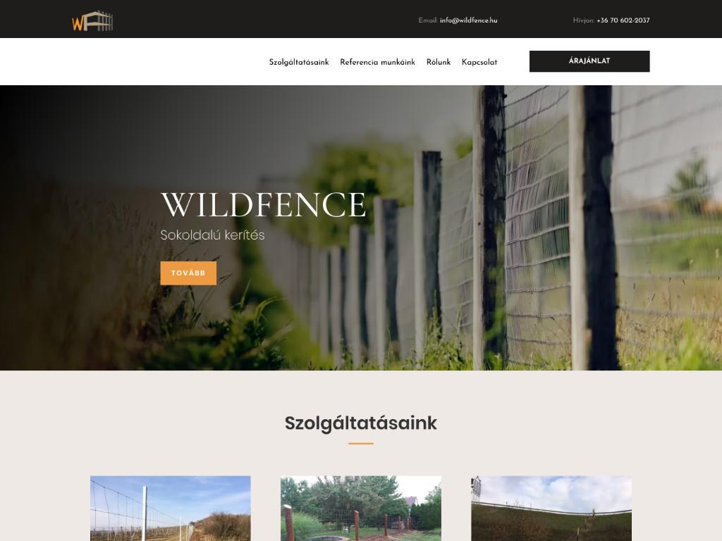 Weboldal készítés: Wildfence