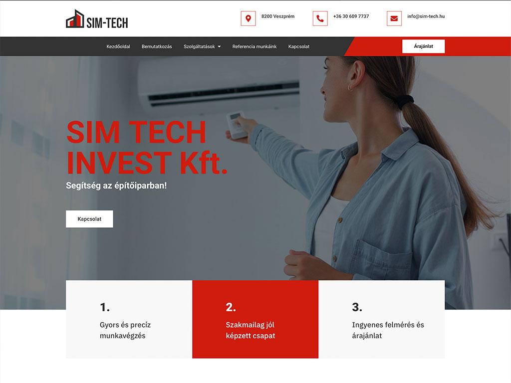 Weboldal készítés: simtech invest kft